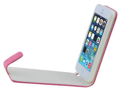 Apple iPhone 5c Synthetic Leather Flip Case - Pink