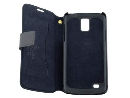 Samsung Galaxy S4 Active I9295 Slim Genuine Leather Portfolio Case - Classic Black
