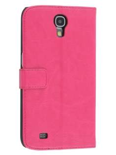 Synthetic Leather Wallet Case with Stand for Samsung Galaxy Mega 6.3 I9200 - Pink Leather Wallet Case