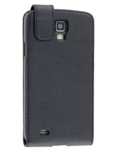 Synthetic Leather Flip Case for Samsung Galaxy S4 Active I9295 - Classic Black Leather Flip Case