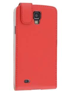 Synthetic Leather Flip Case for Samsung Galaxy S4 Active I9295 - Red Leather Flip Case