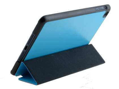 Premium Slim Synthetic Leather Flip Case with Stand for iPad mini - Blue Leather Flip Case