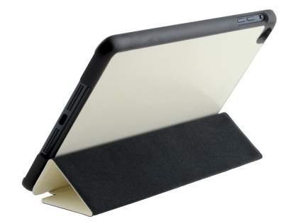 Premium Slim Synthetic Leather Flip Case with Stand for iPad mini - Ivory Leather Flip Case