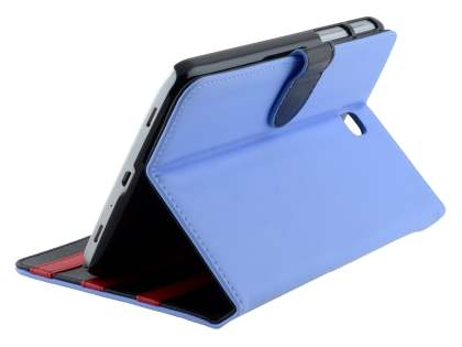 Synthetic Leather Flip Case with Dual-Angle Tilt Stand for Samsung Galaxy Tab 3 7.0 - Blue Leather Flip Case