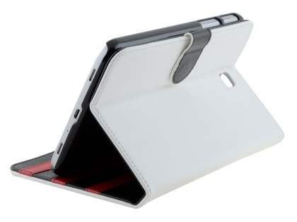 Synthetic Leather Flip Case with Dual-Angle Tilt Stand for Samsung Galaxy Tab 3 7.0 - Pearl White Leather Flip Case