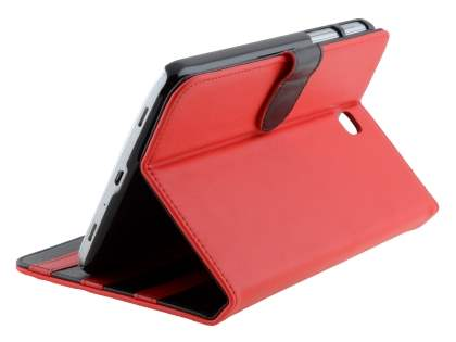 Synthetic Leather Flip Case with Dual-Angle Tilt Stand for Samsung Galaxy Tab 3 7.0 - Red Leather Flip Case