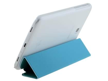 Book-Style Case with Stand for Samsung Galaxy Tab 3 7.0 - Blue/Frosted Clear Leather Flip Case