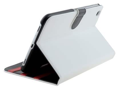 Synthetic Leather Flip Case with Dual-Angle Tilt Stand for Samsung Galaxy Tab 3 8.0 - Pearl White Leather Flip Case
