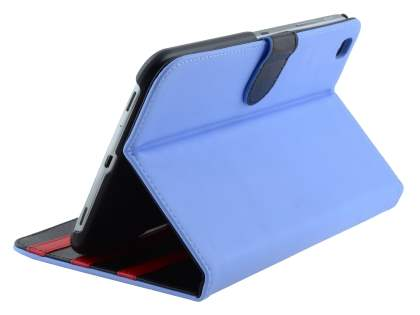 Synthetic Leather Flip Case with Dual-Angle Tilt Stand for Samsung Galaxy Tab 3 8.0 - Blue