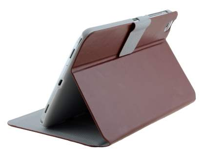 Samsung Galaxy Tab 3 8.0 Book-Style Case with Tilt Stand - Brown