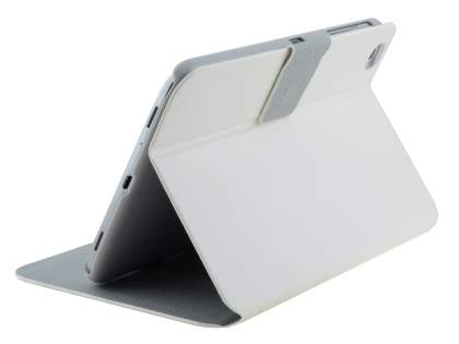 Book-Style Case with Tilt Stand for Samsung Galaxy Tab 3 8.0 - Pearl White Leather Flip Case