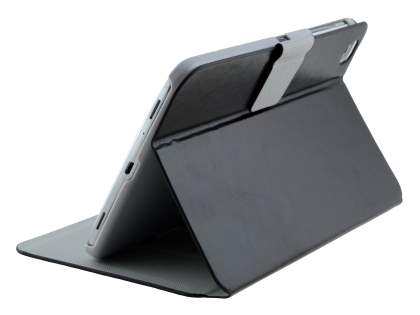 Book-Style Case with Tilt Stand for Samsung Galaxy Tab 3 8.0 - Classic Black Leather Flip Case