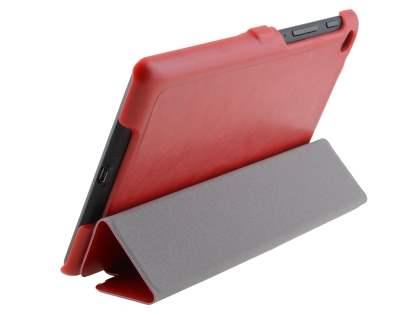 Slim Synthetic Leather Flip Case with Stand for Asus Google Nexus 7 2013 - Red Leather Flip Case