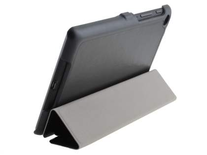 Slim Synthetic Leather Flip Case with Stand for Asus Google Nexus 7 2013 - Classic Black Leather Flip Case