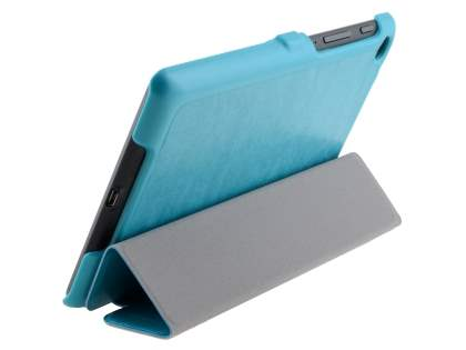 Premium Slim Synthetic Leather Flip Case with Stand for Asus Google Nexus 7 2013 - Light Blue