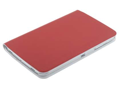 Premium Slim Genuine Leather Portfolio Case with Stand for Samsung Galaxy Tab 3 8.0 - Red