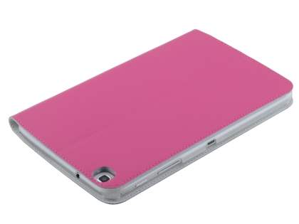 Premium Slim Genuine Leather Portfolio Case with Stand for Samsung Galaxy Tab 3 8.0 - Pink