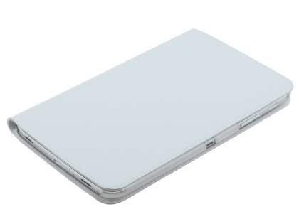 Premium Genuine Leather Slim Portfolio Case with Stand for Samsung Galaxy Tab 3 8.0 - Pearl White