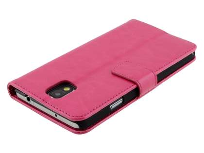 Synthetic Leather Wallet Case with Stand for Samsung Galaxy Note 3 - Pink