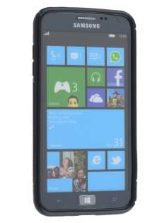 Wave Case for Samsung Ativ S I8750 - Frosted Black/Black