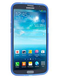 Samsung Galaxy Mega 6.3 I9200 Wave Case - Frosted Blue/Blue