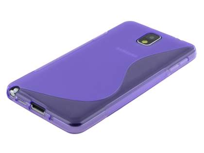 Wave Case for Samsung Galaxy Note 3 - Frosted Purple/Purple