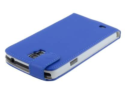 Samsung Galaxy S4 Active I9295 Synthetic Leather Flip Case - Blue