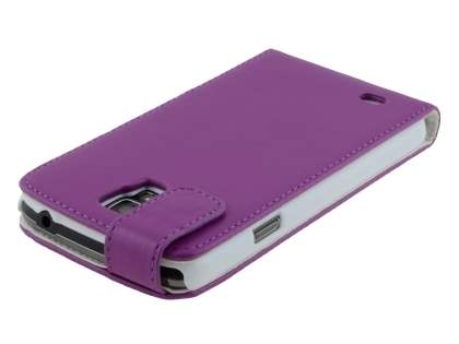 Samsung Galaxy S4 Active I9295 Synthetic Leather Flip Case - Purple