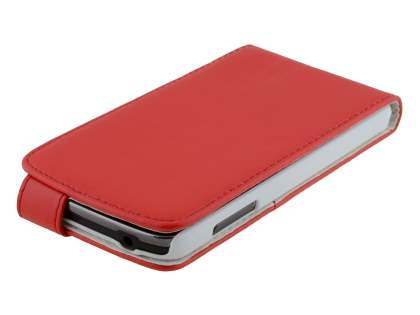 Samsung Galaxy S4 Active I9295 Synthetic Leather Flip Case - Red