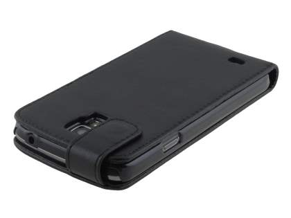 Samsung Galaxy S4 Active I9295 Synthetic Leather Flip Case - Classic Black