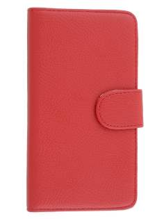 Synthetic Leather Wallet Case with Stand for Samsung Galaxy Note 3 - Red