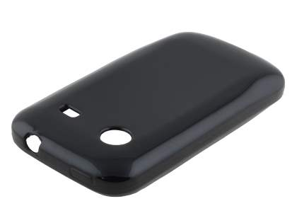 Frosted Colour TPU Gel Case for ZTE T790 Telstra Pulse - Classic Black Soft Cover