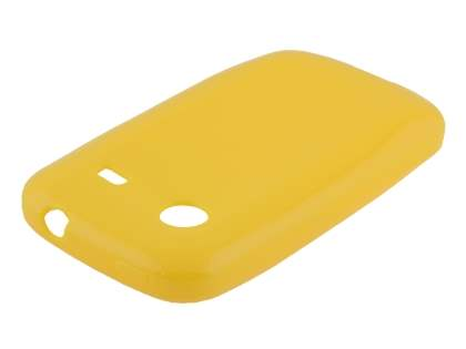 Frosted Colour TPU Gel Case for ZTE T790 Telstra Pulse - Canary Yellow Soft Cover