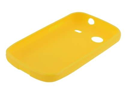 ZTE T790 Telstra Pulse Frosted Colour TPU Gel Case - Canary Yellow