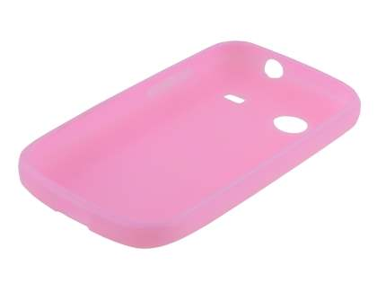 ZTE T790 Telstra Pulse Frosted Colour TPU Gel Case - Baby Pink