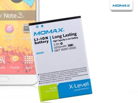 MOMAX X-Level PDA Battery for Samsung Galaxy Note 3