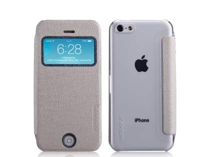 Momax Flip View Case for iPhone 5c - Golden Beige