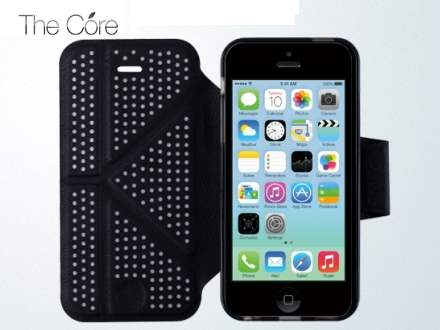 Momax The Core Polka Dots Flip Case for iPhone 5c - Black/Grey