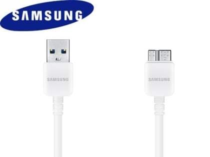 Genuine Samsung Micro USB V3.0 Data Cable - Pearl White