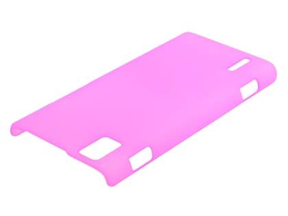 Ultra Slim Frosted Case for Huawei Ascend P2 - Pink Hard Case