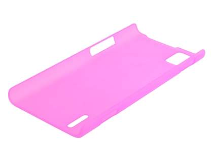 Huawei Ascend P2 Ultra Slim Frosted Case plus Screen Protector - Pink