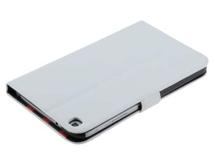 Samsung Galaxy Tab 3 8.0 Synthetic Leather Flip Case with Dual-Angle Tilt Stand - Pearl White