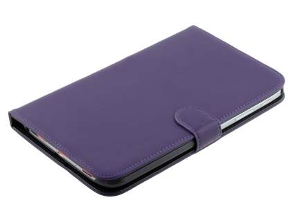 Samsung Galaxy Tab 3 8.0 Synthetic Leather Flip Case with Dual-Angle Tilt Stand - Purple