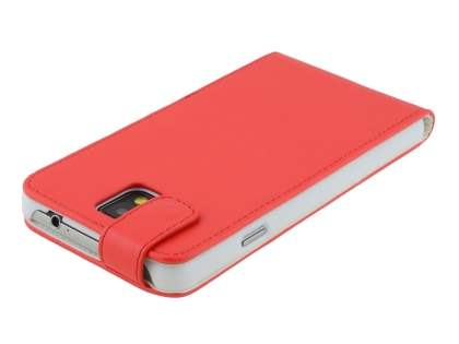Synthetic Leather Flip Case for Samsung Galaxy Note 3 - Red