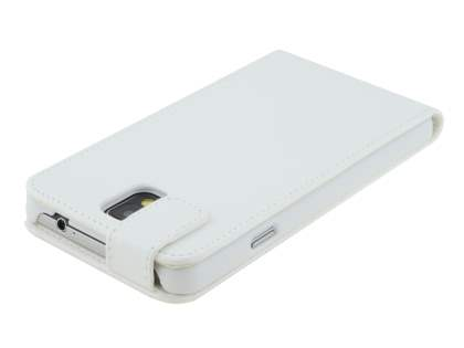 Samsung Galaxy Note 3 Synthetic Leather Flip Case - Pearl White