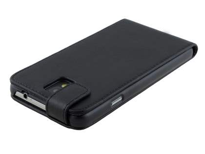 Samsung Galaxy Note 3 Synthetic Leather Flip Case - Classic Black
