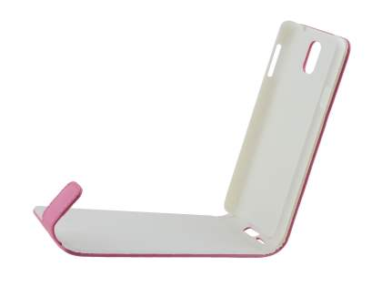 Synthetic Leather Flip Case for Samsung Galaxy Note 3 - Pink