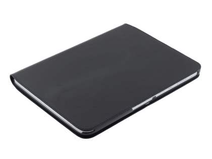 Premium Slim Genuine Leather Portfolio Case with Stand for Samsung Galaxy Tab 3 10.1 - Classic Black