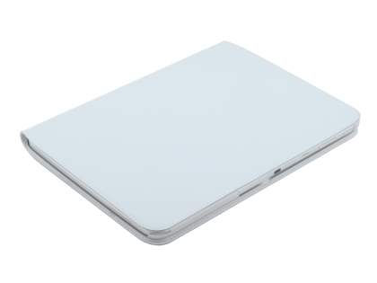 Premium Slim Genuine Leather Portfolio Case with Stand for Samsung Galaxy Tab 3 10.1 - Pearl White