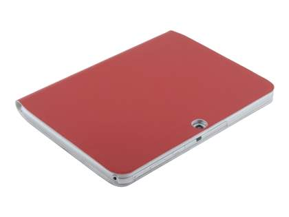 Premium Slim Genuine Leather Portfolio Case with Stand for Samsung Galaxy Tab 3 10.1 - Red